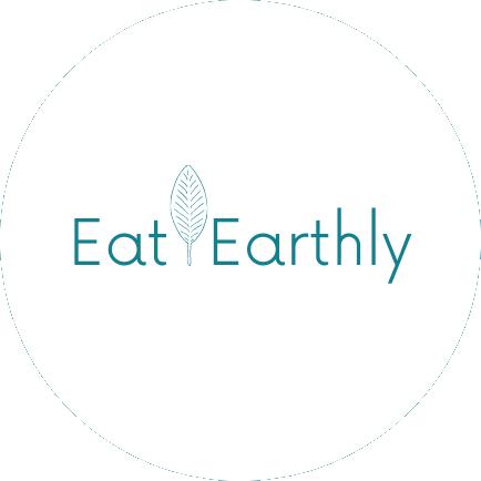 eat earthly white logo