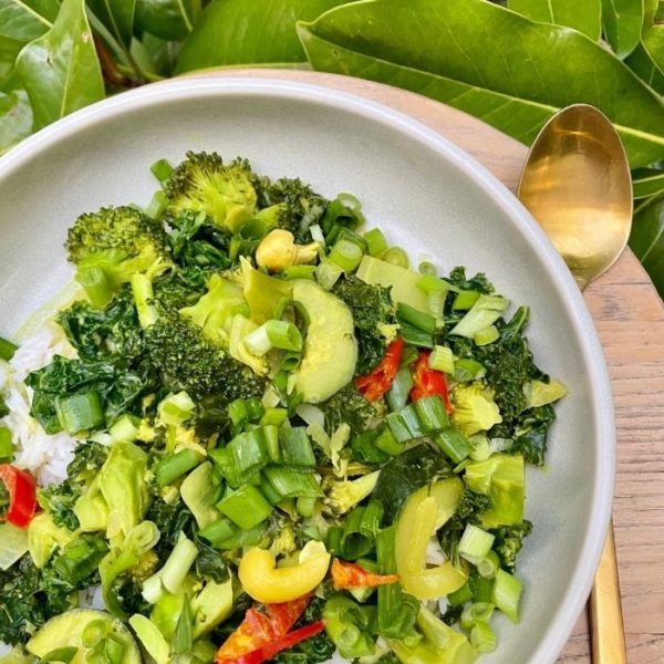 spring greens curry